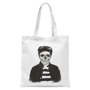 Balazs Solti Cool Skull Tote Bag - White