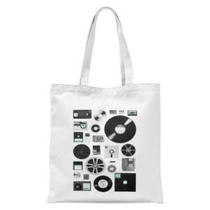 Florent Bodart Data Tote Bag - White