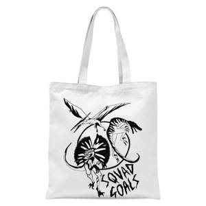Rock On Ruby Dinosaur Squad Goals Tote Bag - White