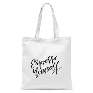 PlanetA444 Espresso Yourself Tote Bag - White
