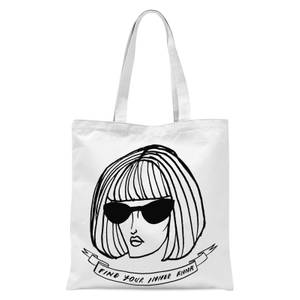 Rock On Ruby Find Your Inner Anna Tote Bag - White