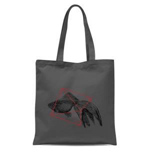 Florent Bodart Fish In Geometry Tote Bag - Grey