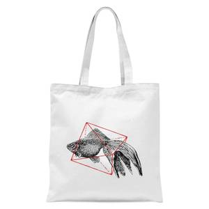 Florent Bodart Fish In Geometry Tote Bag - White