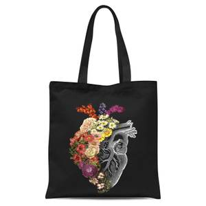Tobias Fonseca Flower Heart Spring Tote Bag - Black