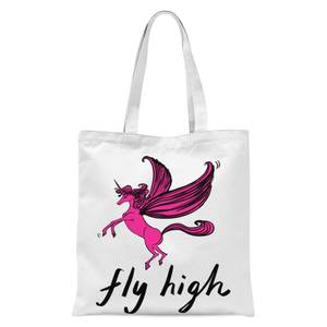 Rock On Ruby Fly High Tote Bag - White