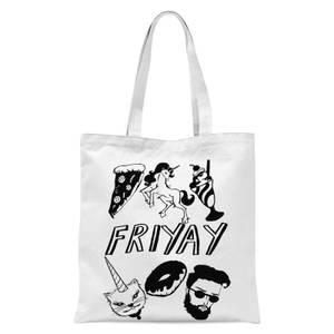 Rock On Ruby Friyay Tote Bag - White