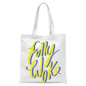 Rock On Ruby Fully Woke Tote Bag - White