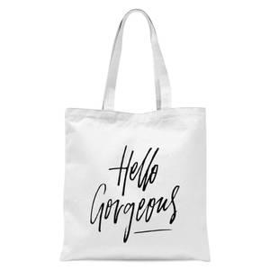 PlanetA444 Hello Gorgeous Tote Bag - White