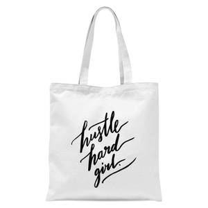 PlanetA444 Hustle Hard Girl Tote Bag - White