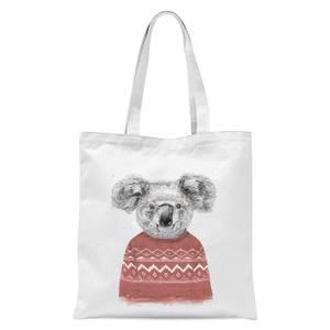 Balazs Solti Koala and Jumper Tote Bag - White