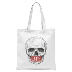 Balazs Solti Life Skull Tote Bag - White