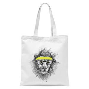 Balazs Solti Lion and Sweatband Tote Bag - White