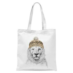 Balazs Solti Lion with Hat Tote Bag - White
