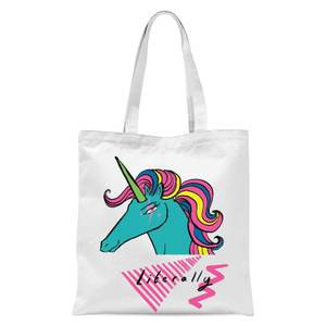 Rock On Ruby Literally Tote Bag - White