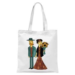 Tobias Fonseca Love Is Art - Frida Kahlo and Van Gogh Tote Bag - White