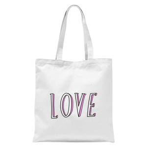 Rock On Ruby Love Tote Bag - White