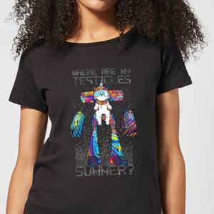 Camiseta Rick y Morty Where Are My Testicles Summer - Mujer - Negro