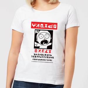 Rick and Morty Wanted Morty Women's T-Shirt - White