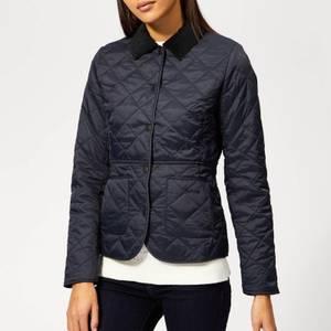 Barbour Women's Deveron Quilted Coat - Navy/Pale Blue