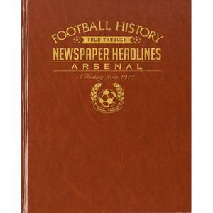 Arsenal Football Newspaper Book - Brown Leatherette