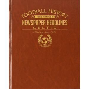 Celtic Football Newspaper Book - Brown Leatherette