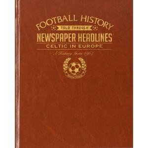 Celtic Europe Football Newspaper Book Brown Leatherette