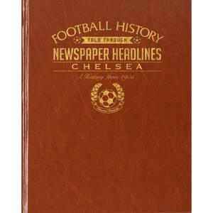 Chelsea Football Newspaper Book - Brown Leatherette
