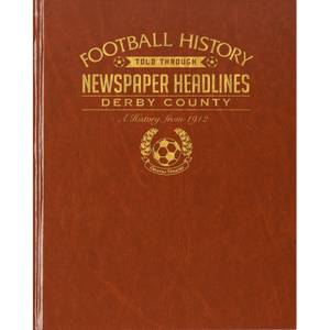 Derby County Football Newspaper Book - Brown Leatherette