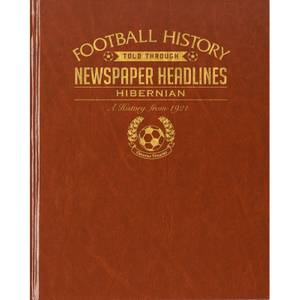 Hibernian Football Newspaper Book - Brown Leatherette