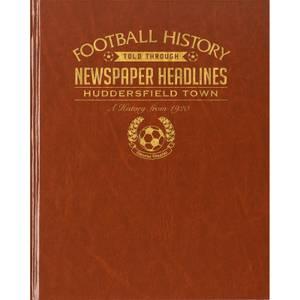 Huddersfield Football Newspaper Book - Brown Leatherette