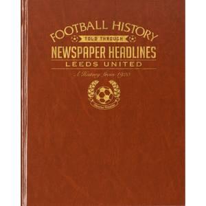 Leeds Football Newspaper Book - Brown Leatherette