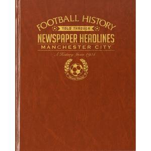 Manchester City Newspaper Book - Brown Leatherette