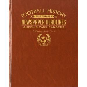 QPR Newspaper Book - Brown Leatherette
