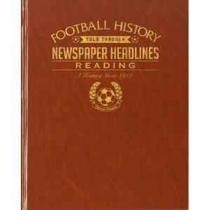 Reading Newspaper Book - Brown Leatherette