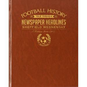 Sheffield Wednesday Newspaper Book - Brown Leatherette