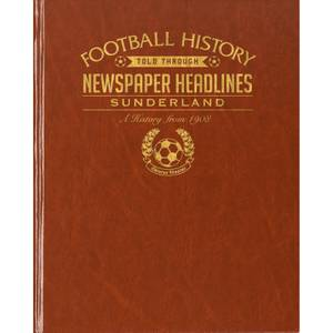 Sunderland Newspaper Book - Brown Leatherette