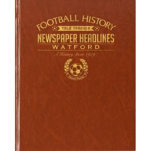 Watford Newspaper Book - Brown Leatherette
