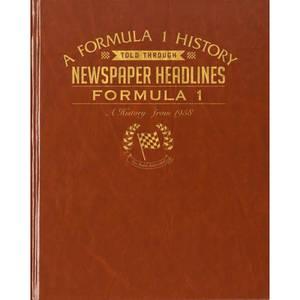 Formula One Newspaper Book - Brown Leatherette