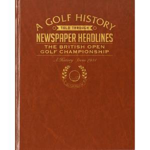 The Open Golf Newspaper Book - Brown Leatherette
