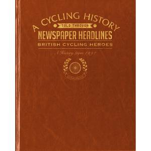 British Cycling Heroes Newspaper Book - Brown Leatherette