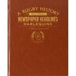 Harlequins Rugby Newspaper Book - Brown Leatherette
