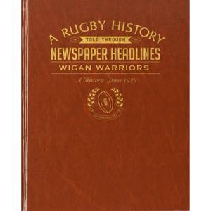 Wigan Warriors Rugby Newspaper Book - Brown Leatherette