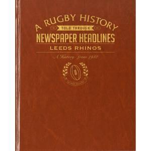 Leeds Rhinos Rugby Newspaper Book - Brown Leatherette