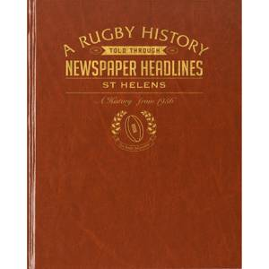 St Helens Rugby Newspaper Book - Brown Leatherette