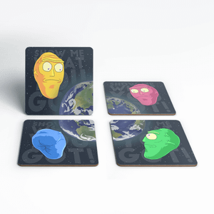 Rick and Morty Show Me What You Got Coaster Set