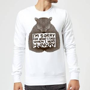 Tobias Fonseca Sorry for What I Said When I Was Hungry Sweatshirt - White