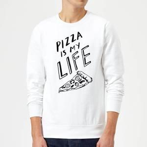 Rock On Ruby Pizza Is My Life Sweatshirt - White