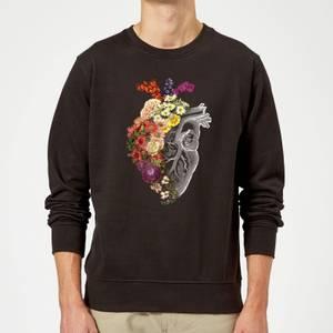 Tobias Fonseca Flower Heart Spring Sweatshirt - Black