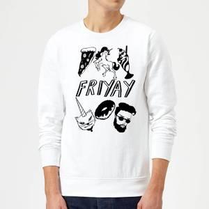 Rock On Ruby Friyay Sweatshirt - White