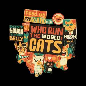 Tobias Fonseca Who Run The World? Cats. Sweatshirt - Black